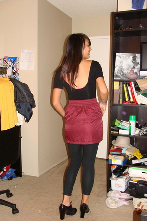 American Apparel skirt - American Apparel dress - Target leggings - Urban Outfit
