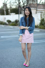 Light-pink-zara-skirt