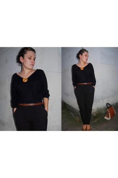 Zara pants - vintage blouse - Zara belt - CCC shoes