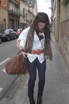 purse - shirt - jeans - accessories