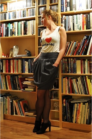 top - Monki skirt - twilfit tights - Max Mara shoes