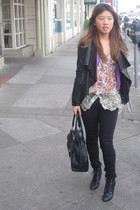Theory jacket - Banna Republic cardigan - kimchi and blue top - Forever 21 jeans