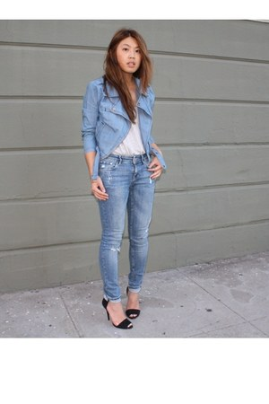 Forever 21 jacket - H&M jeans - Zara heels - Club Monaco t-shirt