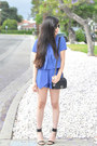 Blue-two-piece-pixie-market-suit-black-chanel-bag