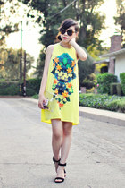 black Zara shoes - yellow Nasty Gal dress