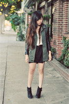 black Lucky Brand boots - army green Topshop jacket