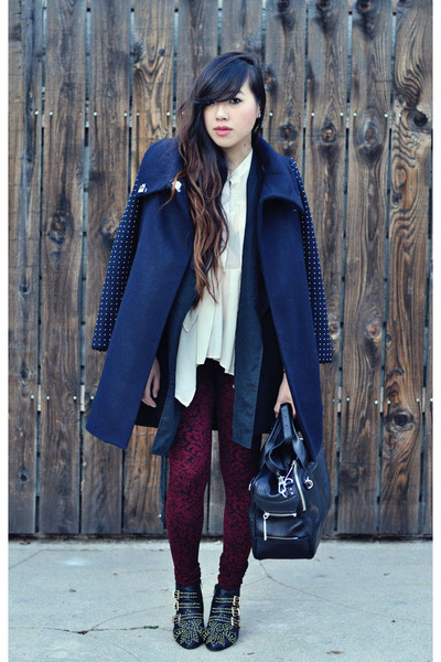 Zara coat - Zara leggings - duffel 31 Phillip Lim bag