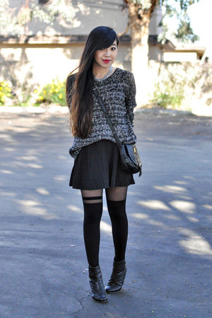 black rag &amp; bone boots - black asos tights