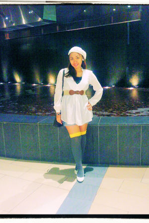 H&M hat - Zara top - H&M belt - Splash socks - Gap shorts - online shoes