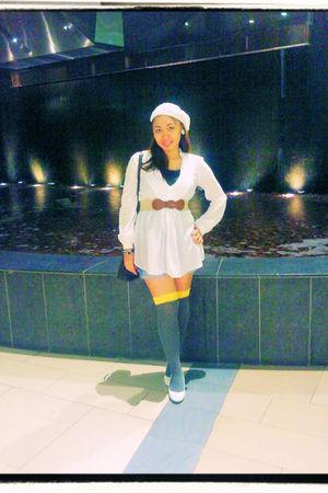 H&M hat - Zara top - H&M belt - Splash socks - Gap shorts - online shoes