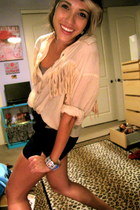 fringe vintage blouse