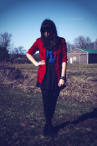 thrifted shoes - thrifted blazer - thrifted shirt