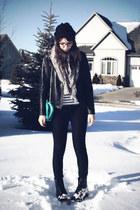 black doc martens boots - turquoise blue Value Village purse