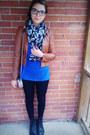 Black-doc-martens-boots-blue-old-navy-shirt-black-skull-scarf-stiches-scarf
