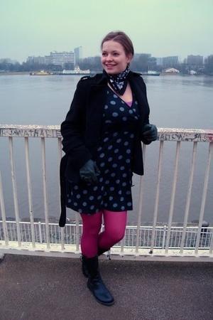 tights - KappAhl dress - H&M jacket - Made in China gloves