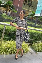 Newlook dress - kate spade bag - Ray Ban sunglasses - tory burch flats
