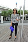 Navy-peplum-stripes-zara-blazer-blue-clutch-asos-bag