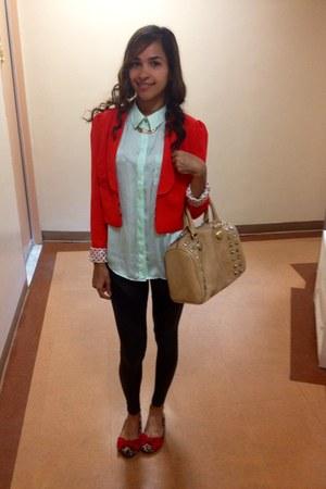 blazer - Aldo bag - H&M blouse - Payless flats