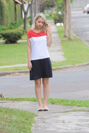 red dress - flats
