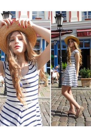 white H&M dress - beige Primark flats