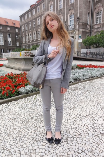 Silver h m jackets heather gray new look jeans white for Silver jeans t shirts