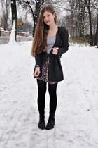 black Din Sko boots - black Zara shirt - silver H&M t-shirt