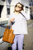 silver M&S jumper - H&M pants