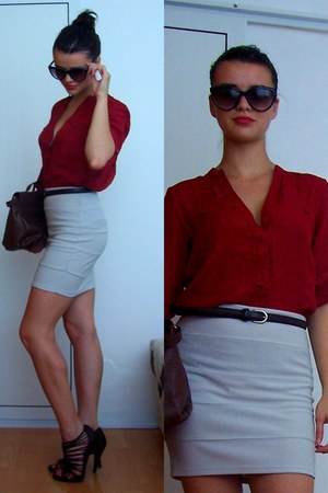 brick red Promod blouse