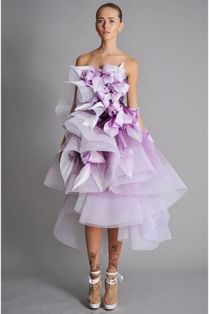 purple marchesa dress