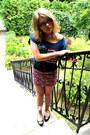 Blue-bik-bok-t-shirt-hot-pink-bershka-skirt