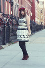 Dark-brown-ankle-seychelles-boots-white-black-and-white-j-crew-dress