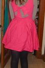 Pink-topshop-dress-blue-spring-shoes-pink-h-m-scarf-gray-shirt