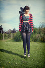 Blue-french-connection-dress-navy-joe-fresh-style-tights-ruby-red-striped-wa