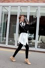 Black-forever-21-leggings-neutral-ankle-boots-white-stylenanda-shirt