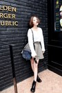 White-style-nanda-blouse-black-nanda-girl-bag