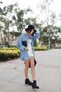 Sky-blue-stylenanda-shirt-ivory-stylenanda-shorts