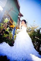 off white wedding gown Custom-made dress