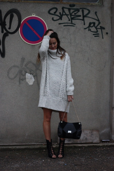 Missguided boots - hm dress - Sezane bag