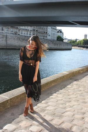 Bershka bag - Sheinside dress - hm bra - Bershka heels - Forever 21 necklace