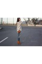 Zara bag - zar jeans - hm sweater - Zara heels - Forever 21 necklace