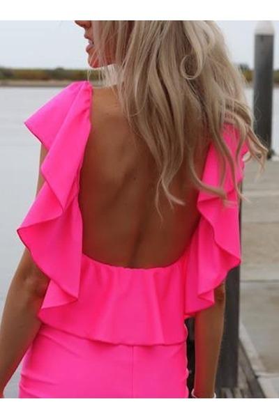 hot pink neon dress