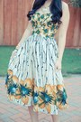 Yellow-halter-anthropologie-dress
