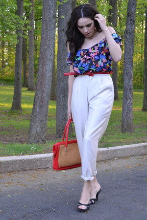H&M dress - thrifted vintage bag - thrifted vintage pants - Nine West heels