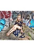 shirt dress H&M shirt - gold clutch Lilly Pulitzer purse