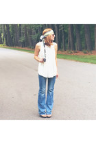 denim flare banana republic jeans - headwrap TuLi Designs scarf