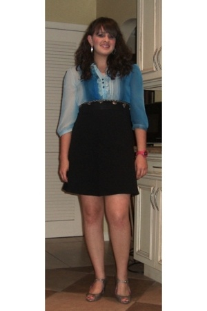 blouse - American Apparel skirt - belt