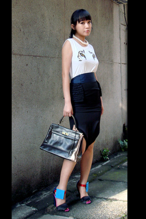 martin margiela top - martin margiela skirt - accessories - Piere Hardy shoes -
