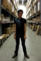 Guess t-shirt - Topman belt - Zara pants - Primavera shoes