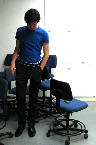Topman t-shirt - JCrew belt - Zara pants - structure shoes