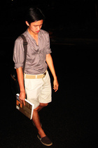 Zara shirt - JCrew belt - Zara shorts - Aldo shoes - Esprit accessories